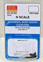 Micro-trains 00102009 N 1023 Universal Body Mount Couplers. 2 Pair. New