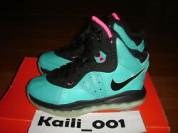 Nike Air Lebron 8 (GS) Size 4Y South Beach Pre Heat C