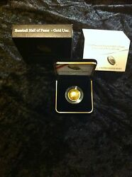 Baseball Hall Of Fame 5 Gold Uncirculated Coin