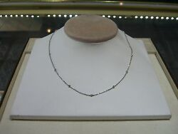 New 14 Karat White Gold 0.55 Carats Diamonds By The Yard Ladies Necklace