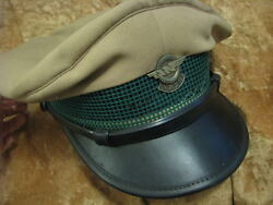 Egged Israel Bus Co. Ticket Collector Mevaker Visor Hat With Badge 1950's Rare