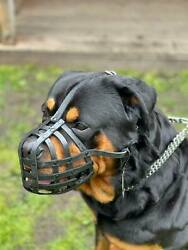 Light leather Dog Muzzle for Rottweiler Mastiff and other similar snout