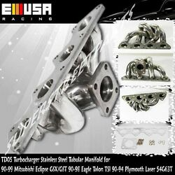 Td05 Turbo Tubular Stainless Steel Manifold For90-99 Mitsubishieclipse 4g63t 2.0