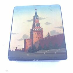 Fedoskino Russian Lacquer Box Moscow Kremlin Signed Govorun
