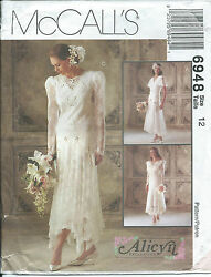 M 6948 Sewing Pattern Exquisite Wedding Dress Bridal Gown Sew Alicyn Size 12 Luv