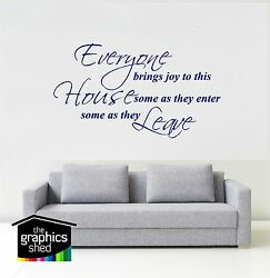 Everyone Brings Joy..large Wall Art Stickers Quote Decal Kitchen Bathroom