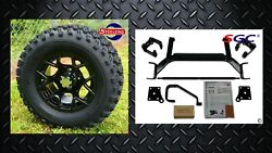 Ezgo Txt Electric Golf Cart 6 Lift Kit + 12 Rally Wheels And 23 At Tires
