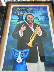 Authentic Jazz Fest Poster 2000 Signed And Numbered