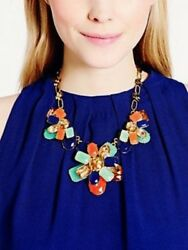 Kate Spade Ny Riviera Garden Graduated Necklace Luxurious Gem Vibrant Color Ston