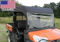 Roof And Vinyl Windshield For Kubota Rtv X1120d/x900 - Soft Material - Heavy Duty