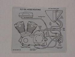 Motorcycle Oil Hose Routing Decal For Harley Davidson Flt 62557-80