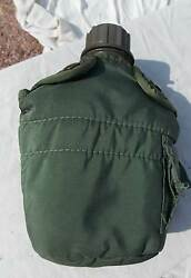 Us Army Usmc Soldiers Green Plastic Light Weight Canteen With Case 2002 Date