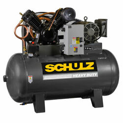 Schulz V-series 7.5-hp 80-gallon Two-stage Air Compressor 230v 1-phase
