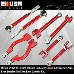 Suspension Package Tension Rod Toe Arm Traction Rod For 95-98 Nissan 240sx S14