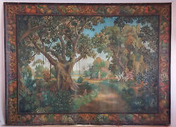 Huge Museum Quality Wpa Ashcan School Landscape Painting By A. Turin 100x74
