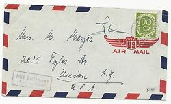 Germany Scott 685 On Cover Air Mail September 24 1952