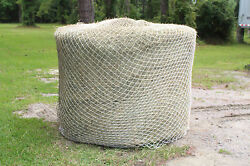 Slow Horse Hay Round Bale Net Feeder Save Eliminates Waste Fits 5and039 X 5and039 Bales