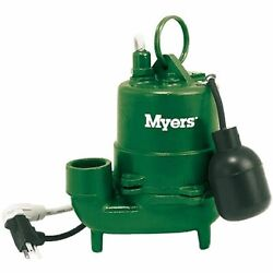 Myers S40ht-11p- 1/3 Hp Cast Iron High Temp Effluent Pump W/ Tether Float Switch