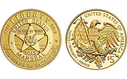 U.s. Marshals Service 225th Anniversary 2015 5 Gold Proof Coin / Early Release