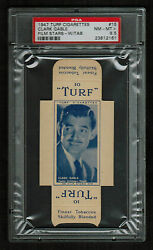 Psa 8.5 Clark Gable 1947 Turf Cigarette Card 15 Complete With Tabs One Higher