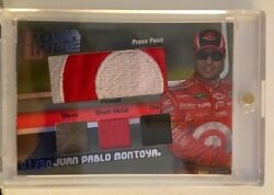 Juan Pablo Montoya 2009 Four Wide Raced Used Suit Metal Glove And Tire 1 Of 50