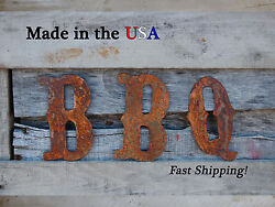 8 Bbq Letter Western Letter Metal Letter Patio Decor Grill Bbq Decor-f1004