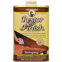 Restor-a-finish By Howard Water Mark Stain And Heat Ring Remover Wood Restorer