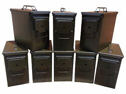 BLANK 8 CANS! BRAND NEW MIL-SPEC TALL 50 CAL PA-19 EMPTY AMMO CAN RARE
