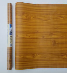 27ft - 3 Rolls Of 9ft Knotty Pine Wood Contact Wall Paper Shelf Liner Peel Stick