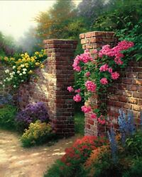Rose Garden Re Cnv 30x24 Thomas Kinkade Also Get A Free Tk Limited Edition