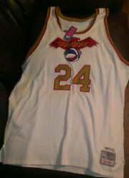 1971-72 Mike Lewis Pittsburgh Condors Aba Basketball Mitchell And Ness Jersey