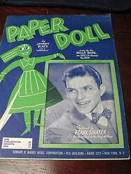 Frank Sinatra Paper Doll Orig. Sheet Music 1943 Very Nice Condition