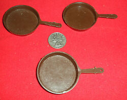 Marx Camping Frying Pan Lot Of 3 Johnny West Best Of The West Accessory Parts