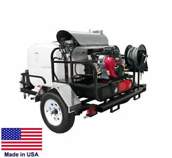 PRESSURE WASHER Hot Water - Trailer Mount - 200 Gal - 4 GPM - 4000 PSI - 12V C