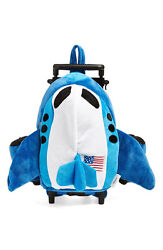 Popatu Jet Airplane Rolling Backpack - Kidand039s Unisex - Age 3 And Up - Fa-290