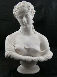 Classical Marble Bust Of Period Lady