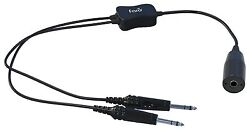 Faro Aviation - Low To High Impedance Headset Adapter Military To Ga Dual Plug