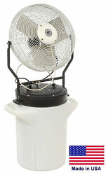 18 Misting Fan - Self Contained - 5750 Cfm - 120 Volts - 1/8 Hp - 1 Ph - 10 Gal