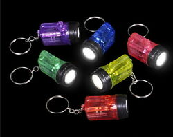 WHOLESALE LOT OF 48 MINI FLASHLIGHT KEY CHAINS LED BATTERIES INCLUDED BARGAIN $20.65