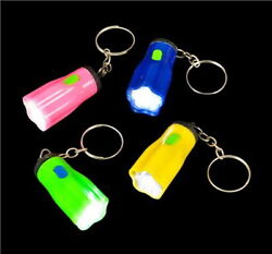 WHOLESALE LOT OF 48 MINI STAR FLASHLIGHT KEY CHAINS LED BATTERIES INCLUDED NICE $18.58