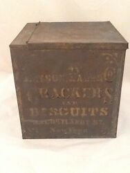 Antique Tin And Glass Display Box Payson Paul And Co Bakery 33 Cortland St Nyc Rare