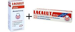 One Set Lacalut Active Mouthwash 300ml + Toothpaste 100ml New From Germany