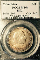1892 Pcgs Ms64 Columbian Exposition Chicago Superb Color
