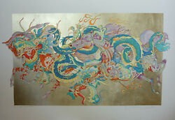 L'annee Du Dragon By Guillaume Azoulay Hand Signed Limited Serigraph Very Rare