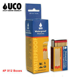 Uco Stormproof Waterproof Safety Matches Water-resistant Box 4p 160pcs X12 Boxes