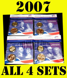 2007 Us Mint Presidential 1 Coin First Spouse Lady Bronze Medal Sets All 4 Sets