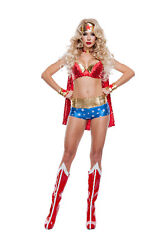 Sexy Starline Wonder Lady Woman 5pc Sequin And Metallic Costume S5003