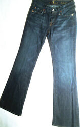 7 For All Mankind Jeans 'BOOTCUT' Indigo W26 L32 AU8 US4 UK6 EUC Womens or Girls