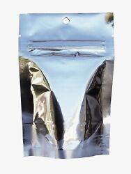 Packfreshusa Silver Metalized Stand Up Pouch Bags Hang Hole Tear Notch - 1000 Pc