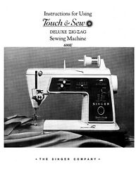 Singer 600e Sewing Machine/embroidery/serger Owners Manual Reprint